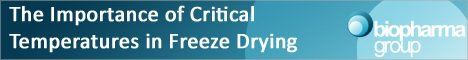 The Importance of Critical Temperatures in the Freeze Drying of Pharmaceutical Products